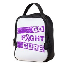 Pancreatic Cancer Go Fight Cure Neoprene Lunch Bag