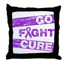 Pancreatic Cancer Go Fight Cure Throw Pillow