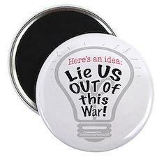 Lie US Out of War Magnet