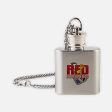 RED: Dog Tags Flask Necklace