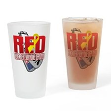 RED: Dog Tags Drinking Glass