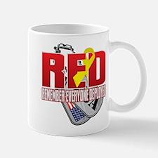 RED: Dog Tags Mugs
