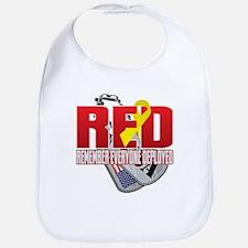 RED: Dog Tags Bib