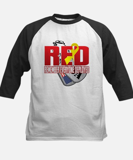 RED: Dog Tags Baseball Jersey