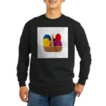 Yarn Basket - Colorful Yarn Long Sleeve Dark T-Shi