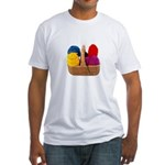Yarn Basket - Colorful Yarn Fitted T-Shirt