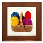 Yarn Basket - Colorful Yarn Framed Tile