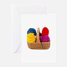 Yarn Basket - Colorful Yarn Greeting Cards (Pk of