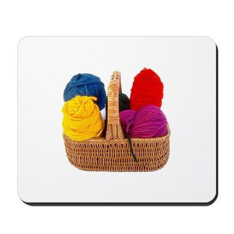 Yarn Basket - Colorful Yarn Mousepad