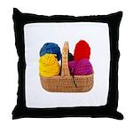 Yarn Basket - Colorful Yarn Throw Pillow