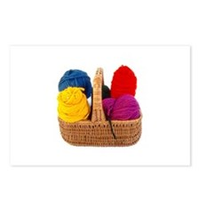 Yarn Basket - Colorful Yarn Postcards (Package of