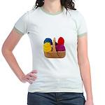 Yarn Basket - Colorful Yarn Jr. Ringer T-Shirt