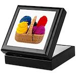 Yarn Basket - Colorful Yarn Keepsake Box