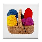 Yarn Basket - Colorful Yarn Tile Coaster