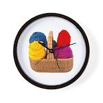 Yarn Basket - Colorful Yarn Wall Clock