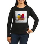 Yarn Basket - Colorful Yarn Women's Long Sleeve Da