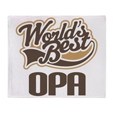 Worlds Best Opa Throw Blanket