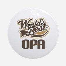 Worlds Best Opa Ornament (Round)