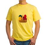 Yarn Basket - Colorful Yarn Yellow T-Shirt
