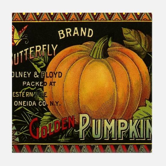 Vintage Fruit Crate Label Tile Coaster