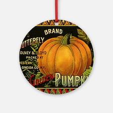 Vintage Fruit Crate Label Round Ornament