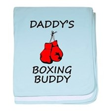 Daddys Boxing Buddy baby blanket