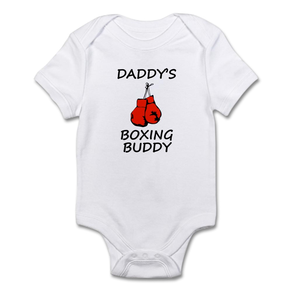 1000471736 CafePress Daddys Boxing Buddy Body Suit Baby Bodysuit
