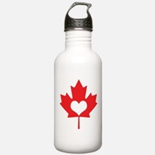 Canadians Have Heart Maple Leaf Water Bottle