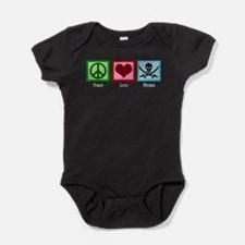 Peace Love Pirates Baby Bodysuit