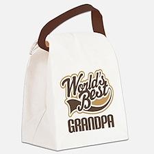Worlds Best Grandpa Canvas Lunch Bag