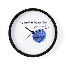 My Yarn Stash is Bigger Wall Clock