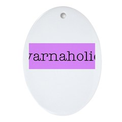 Yarnaholic Oval Ornament