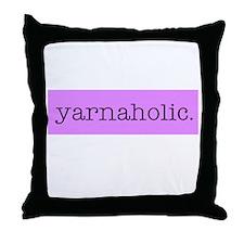 Yarnaholic Throw Pillow