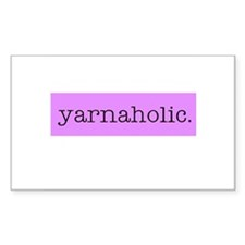 Yarnaholic Rectangle Decal