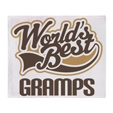 Worlds Best Gramps Throw Blanket