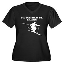 Id Rather Be Skiing Plus Size T-Shirt
