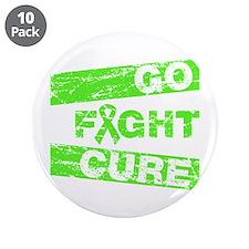 """Non-Hodgkins Lymphoma Go Fight Cure 3.5"""" Button (1"""