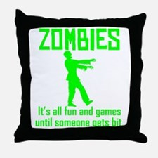 Zombies Throw Pillow