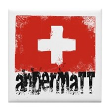Andermatt Grunge Flag Tile Coaster