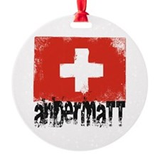 Andermatt Grunge Flag Ornament