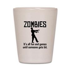 Zombies Shot Glass