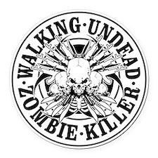 Zombie Killer Round Car Magnet