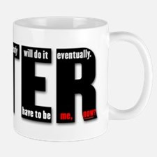 LATER (black, red) Mugs