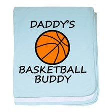 Daddys Basketball Buddy baby blanket