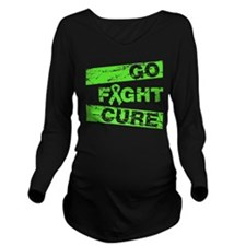Lymphoma Go Fight Cure Long Sleeve Maternity T-Shi