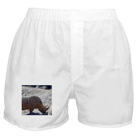 white rhino Boxer Shorts