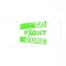Lymphoma Go Fight Cure Aluminum License Plate