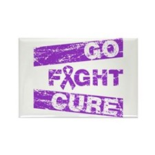 Lymphoma Go Fight Cure Rectangle Magnet