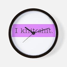 I Knit Shit Wall Clock