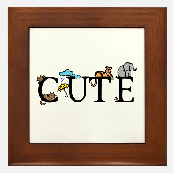 Cute Framed Tile